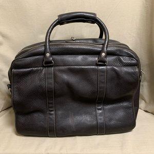 Levenger Mens Bomber Jacket Leather Briefcase